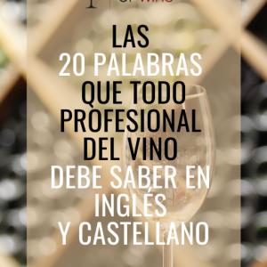 Las 20 palabras que todo profesional del vino debe saber en inglés y castellano
